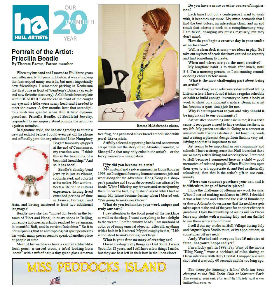 Priscilla in the Hull Times
