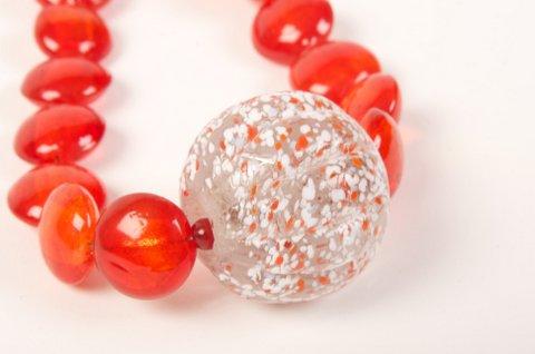 Priscilla glass orange-white pendant 5161